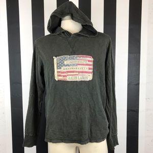 Denim & Supply American Flag Gray Hoodie